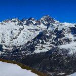 Macizo Occidental de Picos de Europa (Cornión) desde el Collado La Boa Neón en la subida hacia el Pico Jario